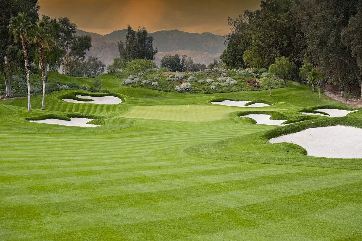 高尔夫球场水体景观设计包括水体形状和尺度的设计.