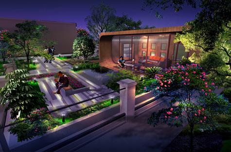 东莞石龙别墅花园景观设计方案