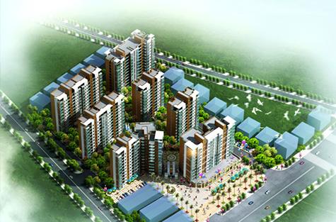 柳州锦业商业住宅楼规划设计