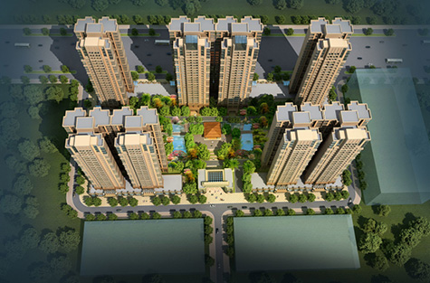 合富花园住宅小区整体规划设计