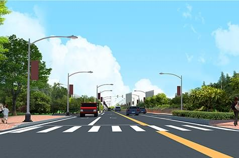 石湾镇金叶华府沙湖丁路景观设计方案