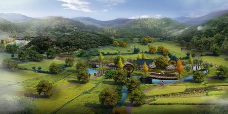 河源市广大源观光休闲度假村园林景观设计概念方案