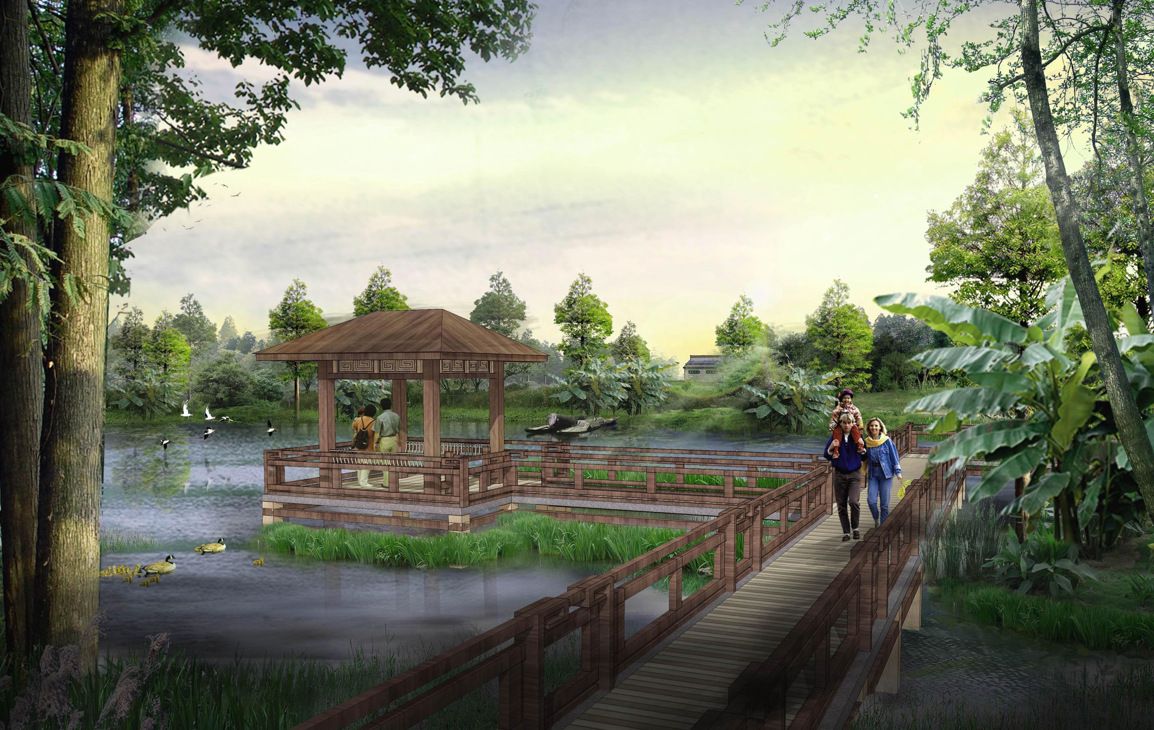 东莞市洪梅镇洪屋锅水道西岸示范片区农田公园规划