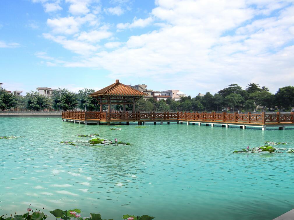 东莞某村村口水塘改造园林景观设计方案