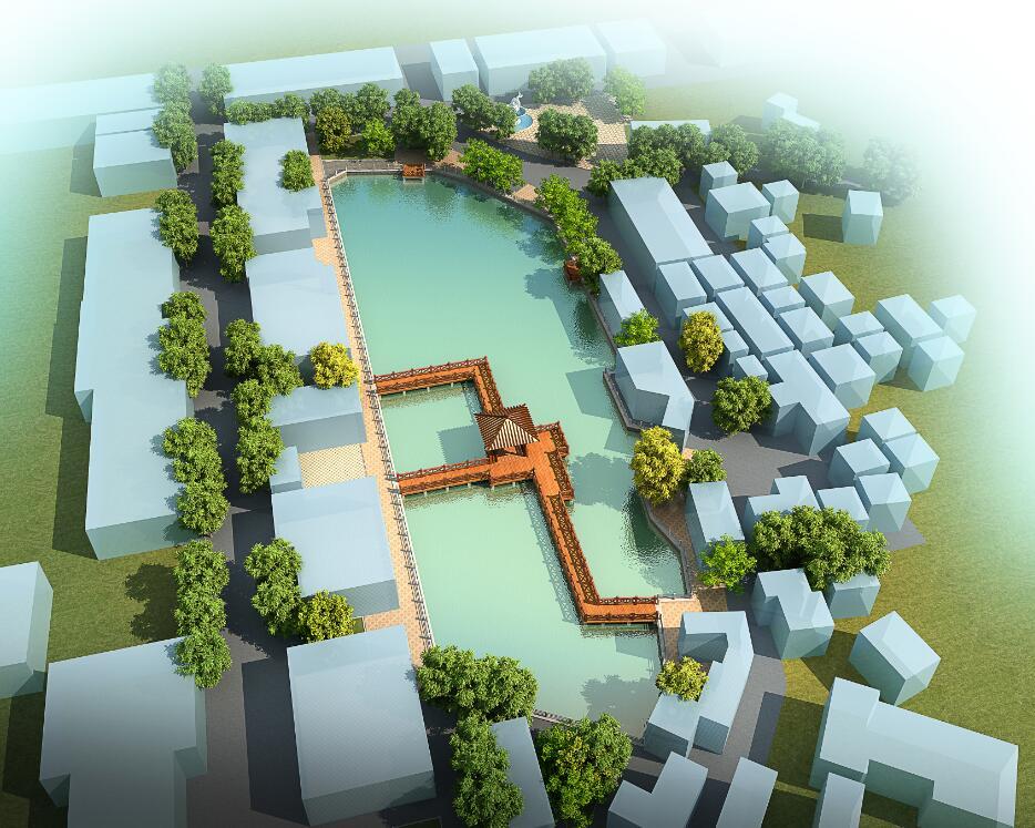 东莞某镇村内园林设计