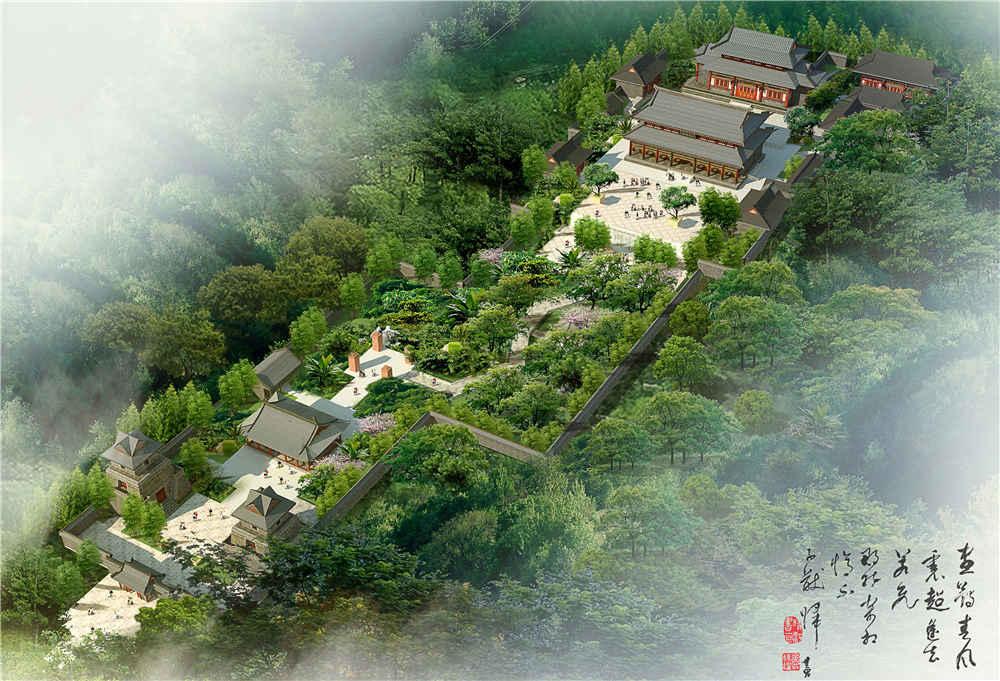 大广山寺古建规划设计