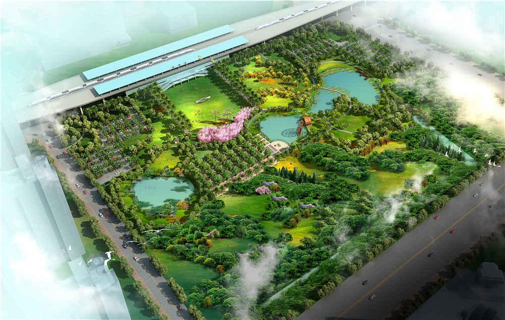 站前绿地公园规划设计