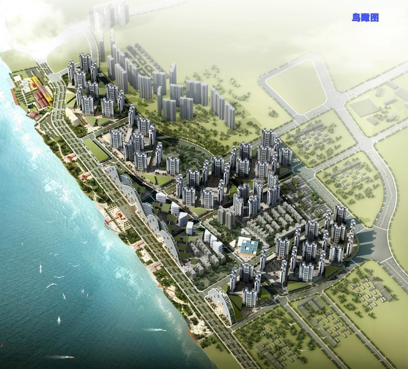 肇庆西江北岸江滨西堤公园与三旧改造城市设计