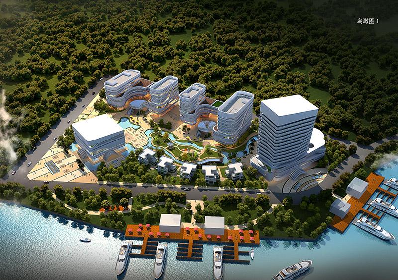 广州长洲岛综合商务体规划设计