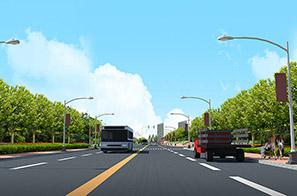 石湾镇金叶华府沙湖丁路道路景观设计