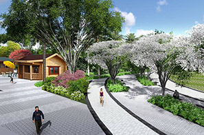 东莞轻轨车站站前绿地公园景观设计方案