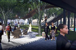 榕树下体验广场景观设计方案